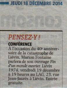 18 décembre 2014 - Voix du Nord