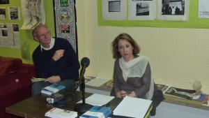"""Vendredi 19 décembre 2014, au LAG à Liévin, Marion Fontaine  présente son ouvrage """"Fin d'un monde ouvrier. Liévin 1974"""""""