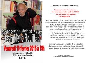 Soirée Jean-Marc Rouillan